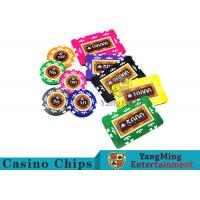 Entertainment 12g 760pcs Custom Poker Chip Sets With Anti - Off Film Protection for sale