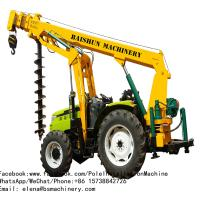 China Steel Skid Loader Post Hole Digger / Yellow Light Pole Installation Equipment on sale