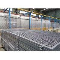 China 75 X 150mm Square Hole Welded Razor Wire Mesh Fencing Grey Color Coated on sale