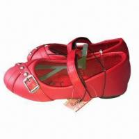 Quality Children's ballerina shoes with fabric upper, available in red and various sizes/designs for sale