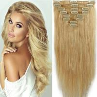 China OEM straight remy russian real human hair clip in human hair extensions U shape clip on sale