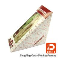 Buy cheap Innovative Eco Friendly Paper Food Boxes , Triangle Sandwich Packaging Box from Wholesalers