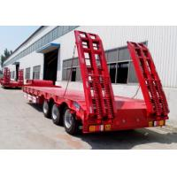 Quality Carbon Steel Low Bed Semi Trailer , 3 Axles / 4 Axle Semi Trailer For Log Transport for sale
