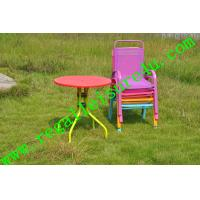 2013 popular outdoor sling stacking kids table back chair RLF T of ec91