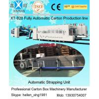 Quality Automatic Corrugated Paperboard Flexo Printer Slotter Folder Gluer with Bunding Machine for sale