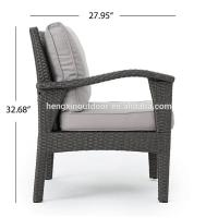 Buy High Quality 5 Piece L Shaped Outdoor Patio Wicker Furniture Rattan Garden Sofa at wholesale prices
