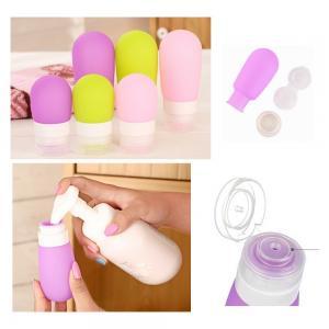 Quality Lamp shaped Silicone Portable Liquid soap dispenser bottle / Shampoo dispenser bottle for sale