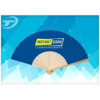 Quality 21cm Promotional Bamboo Folding Hand Fans With Paper Or Fabric for sale
