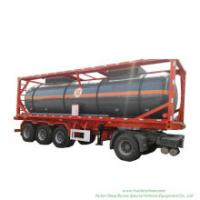Chemical Liquid Acid ISO Tank Container 30FT for Road Transport Steel Lined LDPE for HCl (max 35%) , Naoh (max 50%) , Naclo (max 10%) , H2so4 (60