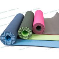 China Skidless Eco Friendly Tpe Yoga Mat Roll For Hot Yoga Workout Routine on sale