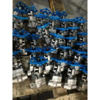 Quality SW Socket Welded Forged Steel Gate Valve Normal Temperature Of Media for sale