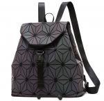 Quality WHOLESALES Laser Geometric Backpack China Supplier Holographic Bag PU Leather Fashion Bag Design OEM Bag offer for sale