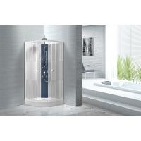 Quality Popular White ABS Tray Corner Shower Stalls , Circle Quadrant Shower Cabin for sale