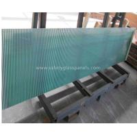 Blue Coated Silkscreen Printed Glass For Table Tops , Bulletproof