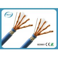 Buy cheap S / FTP 8 Cores Cat 7 Lan Cable With Skin - Foam - Skin Insulation Anti EMI from wholesalers