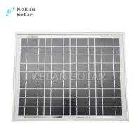 Small Size Mono Crystal Solar Panel 10 Watt Silver Frames 2% Module Efficiency