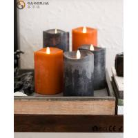Quality Beautiful Autumn Colors Flameless Led Candles Paraffin Wax Materials FL-048 for sale