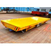 Quality 10T electrical motor driving system rail mounted precast concrete cart for sale