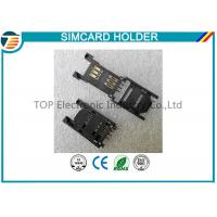 Quality 2.54MM Pitch SIM Card Holder / SAM Card Holder with HINGED TYPE 6 Pin TOP-SIM01-1 for sale