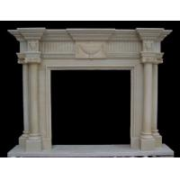 Quality Wall Inserts White Fireplace, Modern Marbe Fireplace mental for sale