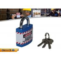 Quality 20.5mm Steel Shackle Length Jacket Safety Lockout Padlock with Chrome Plating for sale