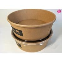 Buy cheap Unbleached Kraft Paper Salad Rice Noodle Bowl 20oz 26oz 32oz 36oz 44oz Custom Printed Food Container Supplier from Wholesalers