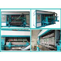 Quality Waste Paper Pulp Molding Euipment Rotary Egg Tray / Egg Box Machine for sale