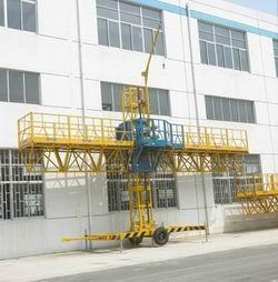 Quality 1000kg Loaded Steel Construction Lifting Platform, Single-Mast Climbing Working Gondola 8m for sale