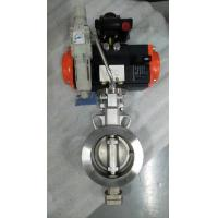 Quality Pneumatic triple eccentric butterfly valve Pneumatic actuator control butterfly valves for sale