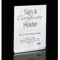 China clear acrylic sign holder with pockets on sale