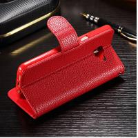 Colored Samsung J7 Prime Leather Case , Stitching Personalised Leather Phone Case