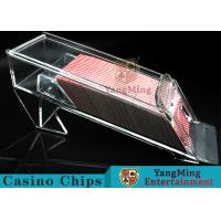 Quality 1.2kg Transparent Acrylic Casino Card Shoe With Excellent Light Transmission for sale