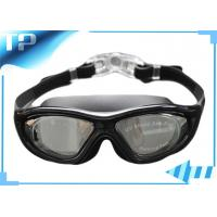 China Safety Buckle Mirrored Custom Childrens Swimming Goggles With Big View on sale