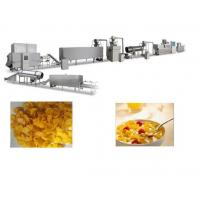 Quality Crispy Corn Flakes Production Line , SS Material Breakfast Cereals Making Machine for sale