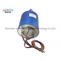 Quality 2 ~ 72 Conductors blue 140mm through bore electrical slip ring / brush slip ring for sale