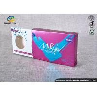 Buy Purple Decorative Cardboard Boxes , Gift Card Box Three Display Small Windows at wholesale prices