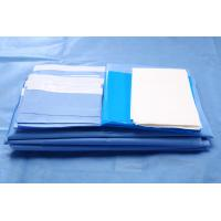 CE / ISO13485 Blue SMMS Sterile Fenestrated Drape for Abdorminal Surgery