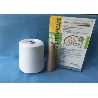 Buy cheap Knotless Natural White Sewing Machine Thread 100% Polyester Yarn For Jeans / Shoes from Wholesalers