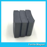 Quality Arc Shaped Permanent Ferrite Magnet For Ceiling Fan Motor SGS Certification for sale