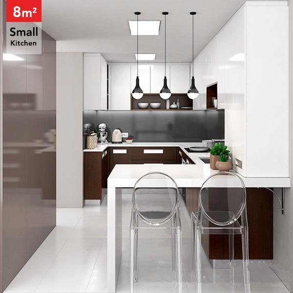 Kitchen Cabinets Stand Alone: Custom Laminate Kitchen Cabinets Wood Frame , Stand Alone
