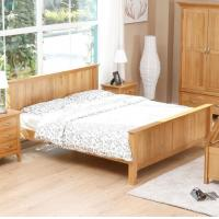 China Natural Solid Wood Bedroom Furniture Sets Wooden Frame Simple Style Customized Size on sale