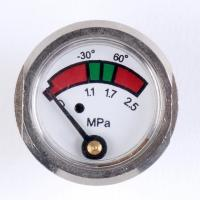 Quality Chrome Plated Pressure Gauge Manometer , Brass Fire Extinguisher Components for sale