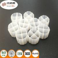 Quality HIPS White Color Plastic Bio Media , Moving Bed Biofilter 12*9mm Size for sale