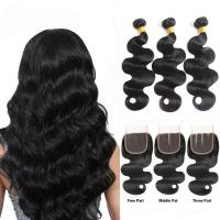Quality Minimum Shedding Unprocessed Cambodian Human Hair Weave / Body Wave Human Hair for sale