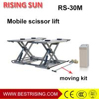 Quality 3Ton pneumatic used middle rise mobile car lift for auto garage for sale