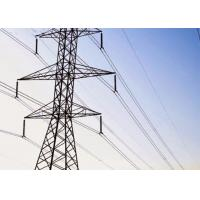 Quality Welded 4 Angle Steel Transmission Tower 5m - 100m Height High Yield Strength for sale