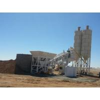 Quality YHZS75 Full Automatically Concrete Batching Plant Mobile PLC Control for sale