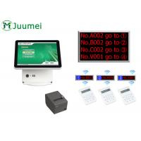 Manual Queue Management System Steel Cabinet With Touch Screen