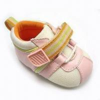 Quality Baby Micropatch Strap Shoe with Jersey Lining for sale