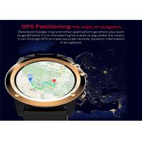 Quality GPS Navigation LED Smart Watch MTK6572 Dual Core CPU Stainless Steel Watch Case for sale